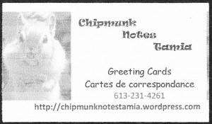 Chipmunk Notes Tamia