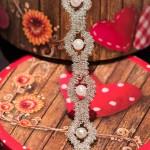 Ottawa bobbin lace bracelet in silver