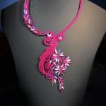 Ottawa bobbin lace - Cluny necklace