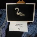 Ottawa bobbin lace - Swan pin