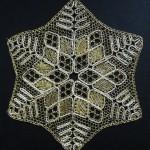 Ottawa bobbin lace - Silver and gold star