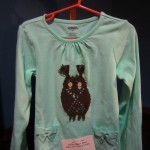 Ottawa bobbin lace - Childs owl shirt