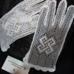 Ottawa bobbin lace - Torchon gloves