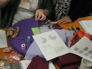A demonstration in Russian lace