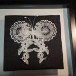Mademoiselle papillon le jour de son mariage